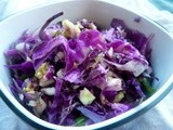 Cabbage Kohlrabi Slaw with Honey Soy Dressing (and Fish Tacos)