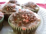 Chocolate Cupcakes with Peppermint Icing and Crushed Candy Cane  Sprinkles
