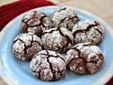 Chocolate Espresso Crinkle Cookies