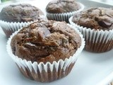 Double Chocolate Zucchini Muffins - a Guest Post on Simply Life