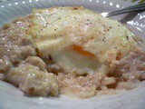 Egg Over Oatmeal