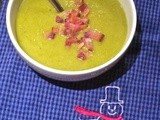 Homemade Pea Soup with Crumbled Bacon