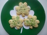 Irish Soda Bread Shamrock Cookies
