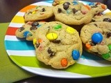 Loaded m&m Chocolate Chip Cookies