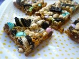 Oreo m&m Magic Bars with Graham Cracker Crust