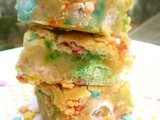 Peanut Butter Funfetti Cake Blondies (and the Dagoba Chocolate Giveaway Winner!)