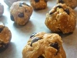 Peanut Butter Oatmeal Chocolate Chip Cookie Dough Balls