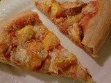 Root Vegetable Pizza with Sweet Potato, Rutabaga, Onion, and Acorn Squash