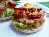 Tuna, Avocado, Bacon, & Tomato Open-Faced Sandwich Melts