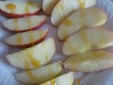 Two Favorite Snacks: Apple Slices with Honey & Cinnamon and Ooey Gooey Banana & Peanut Butter