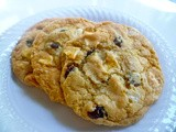 White Chocolate, Cranberry, Banana Chip Cookies