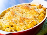 Baked Bacon and Spinach Macaroni and Cheese