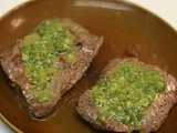 Flat Iron Steak w/Chimichurri Sauce