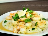 Lemon and Garlic Shrimp and Parmesan Grits