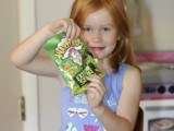 Six year old tries Warheads for the first time and gives her review
