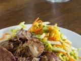 Slow Cooker Pork w/ Five Spice Blend and Napa Cabbage-Carrot Salad