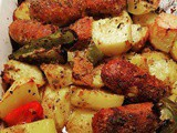 Baked Sausage Peppers and Potatoes