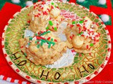 Christmas White Chocolate Peanut Butter Krispies