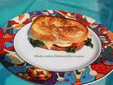 Claudia's Grilled Chicken Spinach Roasted Pepper Sandwich
