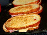 Grilled Cheese and Capicola Roasted Pepper Sandwich