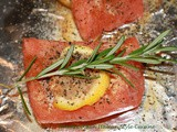 Grilled Lemon Rosemary Salmon Recipe