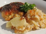 Guinness Scalloped Cheddar Bacon Potatoes