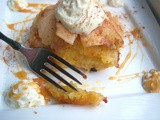 Mom's Old Fashioned Apple Biscuit Dessert with Caramel Sauce Recipe