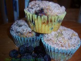Pecan Crumb Topped Blueberry Muffin Recipe