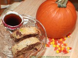Pumpkin Pistachio Chocolate Chip Biscotti