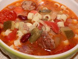 Sausage and Meatball Minestrone Soup Recipe