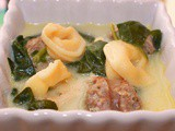 Tuscan Sausage And Spinach Tortellini Soup
