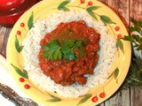 Vegetarian Chili over Rice