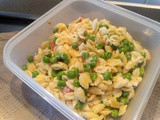Lunch box: Orecchiette with peas and sausages