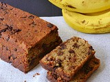 Chocolate walnut banana bread/ Eggless chocolate walnut bread