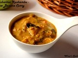 Vazhakkai Kuzhambu - Raw Banana Curry