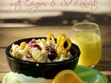 Citrus Pasta Salad with Grapes & Red Walnuts {Recipe}