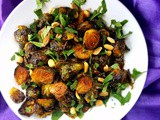 Gochujang Roasted Brussels Sprouts with Cilantro & Peanuts