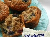 Low-Fat Blueberry Banana Muffins