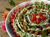 Potluck-Worthy Big {Cuban} Salad with Spicy Maple-Lemon Cashew Sauce