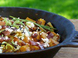 Roasted Butternut with Bacon, Leeks & Goat Cheese {Recipe}