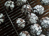 Swiss Chews {Flourless Chocolate Crinkle Cookies}