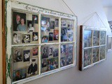 """Windows to the Past"" – How to Make an Epic Family Photo Display from Vintage Windows"