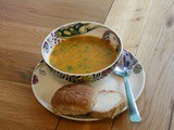 Easy, creamy carrot and fresh coriander soup (slow cooker friendly)