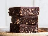 Baked Chocolate and Walnut Brownie