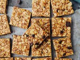 Five Ingredient Choc Chip Muesli Bars