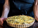 Leek and Mushroom Quiche with a Rye Crust