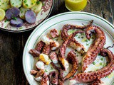 Octopus with Ladolemono