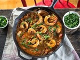 Spicy Creole Shrimp -- Warmth on a Cold Winter's Night