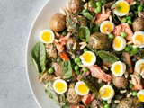 Spring Potato Salad with Quail Eggs