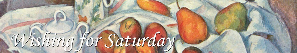 Very Good Recipes - Wishing for Saturday